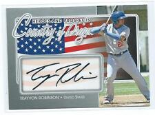 2011 ITG Heroes & Prospects Trayvon Robinson Country of Origin AUTO AUTOGRAPH RC