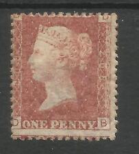 SG 43-4 el 1858-79 Centavo Rojo PL.208 (DB) montado Menta Gato £ 70