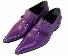 CHELSY INSOLITO -UOMO SCARPA lilla pantofola PELLE suola in cuoio VIOLETTE 41