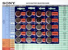 1000 Sony CR2032 3V Lithium Coin Battery Super Fresh Expire 2027 US Seller