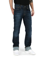 Nudie Herren Regular Slim Fit Bio Denim Jeans Hose | Slim Jim Thunder Blue