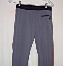 Danskin Women's Athletic Fitted Gray Full Length Workout Pants sz med