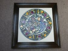 More details for charlotte rhead reproduction plaque of burleigh pattern 4012 ex cond.
