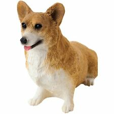 Sandicast Sculpture: Small Size Red Pembroke Welsh Corgi, Sitting (Ss04102)