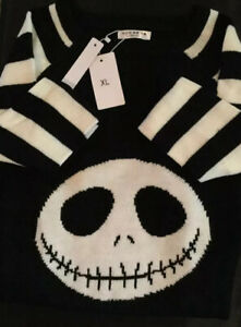 New Adorable JACK SKELLINGTON Slender Fit Sweater Dress XL