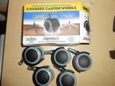 Slipstick 2 Inch Floor Protecting Rubber Office Chair Caster Wheels Set of 5