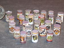 Dollhouse Miniature Vintage Can Food Grocery 24 p 1:12 scale Dollys Gallery H147