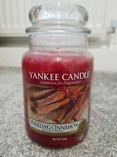 YANKEE CANDLE LARGE JAR, SPARKLING CINNAMON