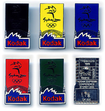 SYDNEY 2000 OLYMPIC GAMES AUSTRALIA-KODAK CONFERENCE X 5 BLUE PINS-COLLECTIBLE.