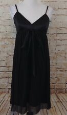 The Limited black dress baby doll bow womens 8 New empire spaghetti strap O8