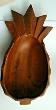 Wooden Tiki Pineapple Bowl, Monkeypod