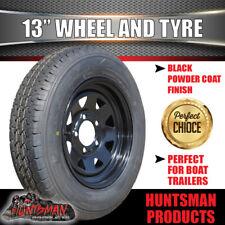 13 x 4.5 175 LT Black Sunraysia Wheel Rim &Tyre suit Ford Trailer Caravan Boat