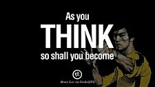 "Inspirationa Quotes from Bruce Lee martial arts Mini Poster 24""x 16"""