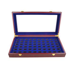 Wooden Display Championship Ring Box 9/12/17/30/53 60holes Ring Holder Organizer