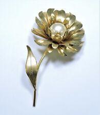Vintage Pearl Flower Brooch Pin NO171002