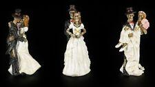 Skelett Figuren - Brautpaare 3er Set - Hochzeit Deko Spaß lustig Fun