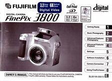 INSTRUCTION BOOK / MANUAL for Fujifilm FinePix 3800 Digital Camera