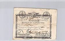 ITALIE 10 PAOLI 7.7.1798 N° 1840 PICK S 525