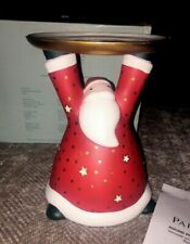 New ListingPartylite Holiday Cheer Pillar Holder P9631 Santa Clause Nib