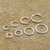 50/40/15/12pcs Sterling Silver Open or Closed Jump Rings 5mm 6mm 8mm 10mm