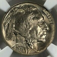 1937 D NGC MS66 Indian Head Buffalo Nickel 5c ~ Lustrous Deep Strike Gem!