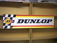 Dunlop Tyres Advertising Banner pvc sign for vintage Workshop or Garage