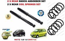 FOR CHEVROLET DAEWOO MATIZ 2005 > 2X REAR SHOCK ABSORBER + COIL SPRINGS SET