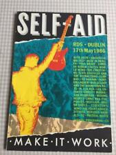 Tour programme U2 Self Aid Dublin 17/05/86 Rory Gallagher Pogues Costello