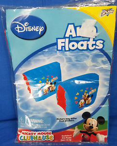 NEW SEALED Disney Mickey Mouse Club House Swimming Arm Floats Training Aids 3+