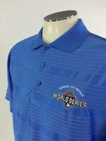 Kansas City Royals 2015 World Series Polo Shirt M Blue Mens Golf MLB Baseball