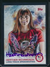2014 Topps US Olympic Team #72 Heather Richardson Autograph Signed Speedskating