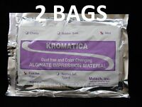 Alginate Kromatica Impression Material Fast Set Mint 1LB Bag - 2 BAGS