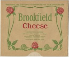 1930s Packet of Decorated Glassine Brookfield Cheese Wrappers