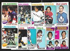 1975-76 OPC 75-76 O PEE CHEE NHL HOCKEY CARD ERROR & VARIATION 265-396 SEE LIST