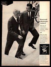 1963 Hart Schaffner & Marx Suits Businessman Walking Up Steps Vintage Print Ad