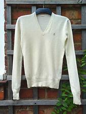 """POLO Ralph Lauren Crema 100% cashmere jumper (Taglia: 30"""" petto)"""