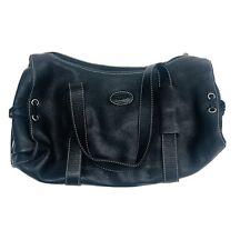 TOD'S BLACK LEATHER PEBBLED SATCHEL BAG Purse Handbag TODS