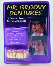 Groovy Austin Powers Style Fake Teeth Dentures Fancy Dress Accessory P1216