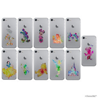 Disney Art Coque/Étui/Case pour Apple iPhone 5/5s/SE/5C/6/6s/7/8/Plus/X/10 / Gel