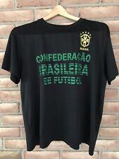 Brazil Soccer T-Shirt Size Large Black CBF Short Sleeve Men's