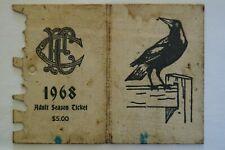 Collingwood Magpies Vintage 1968 AFL-VFL Football Members Season Ticket Card