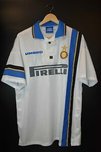 INTER MILAN 1997-1998 ORIGINAL AWAY JERSEY Size XL (VERY GOOD)