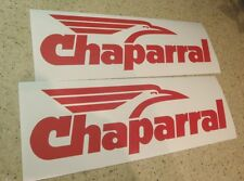 """Chaparral Vintage Snowmobile Decals RED 2-Pak 12"""" FREE SHIP + Free Fish Decal!"""