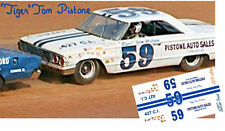 CD_2824 #59 Tiger Tom Pistone  1964 Ford  1:64 scale decals   ~NEW~