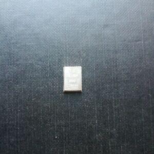 Lingote  1 G plata 999,9 valcambi
