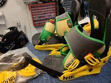 Burton Infidel Medium Snowboard Bindings Rasta Bindings