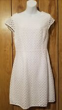 Old Navy Dress Sz 8 Women Eyelet White Dress Pre-owned