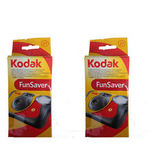 2 Pcs Kodak FunSaver Flash 27 Exp.(IS0 800) One Time Use Disposable Camera 11/18