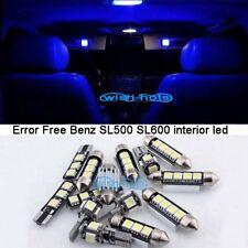 9Pcs Blue Interior LED Light Kit For 2003-2006 Mercedes Benz SL500 SL600 SL55 M
