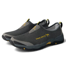Outdoor Mens Hiking Mesh Shoes Breathable Trekking Fishing Camping Flats NEW
